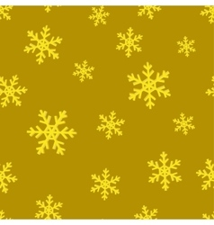 Gold snowflakes golden seamless background vector