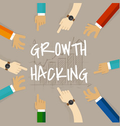 Growth hacking business method concept of using vector