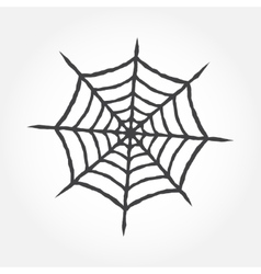 Halloween cobweb outline icon vector image
