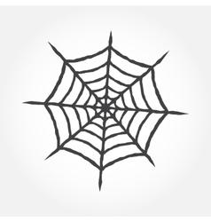 Halloween cobweb outline icon vector