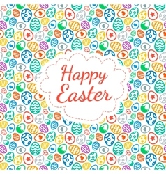 Happy Easter greeting card background color of the vector image vector image