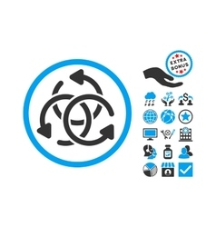 Knot rotation flat icon with bonus vector