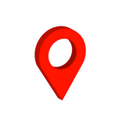 Map pointer symbol flat isometric icon or logo 3d vector