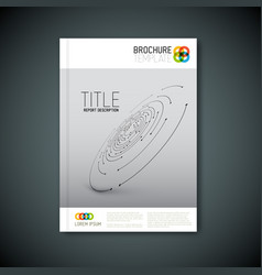 Modern abstract brochure template vector