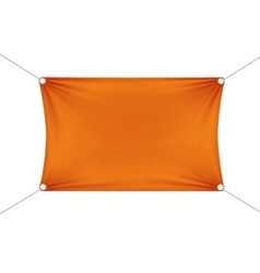 Orange blank empty horizontal rectangular banner vector