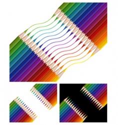 pencils drawing rainbow vector image vector image