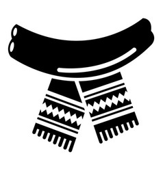 scarf icon simple black style vector image