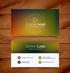Clean colorful background business card template vector