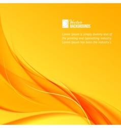 Orange smoke on yellow background vector image