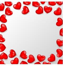 Heart shaped bead frame vector