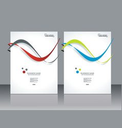 Set ofbanners with colorful smooth futuristic vector