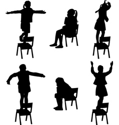Dance on the chair vector