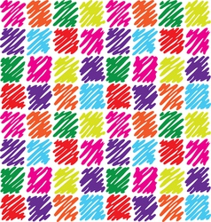 Seamless pattern with dashed squares vector