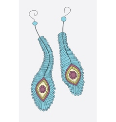 Hand drawn earrings vector