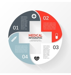 Circle plus sign infographic template for diagram vector