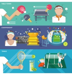 Tennis banner set vector