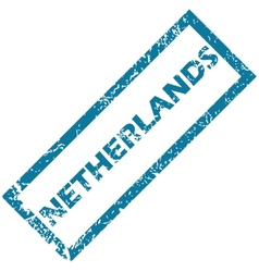 Netherlands rubber stamp vector