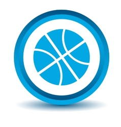 Blue basketball icon vector