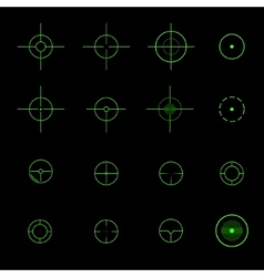 Set of different crosshairs vector