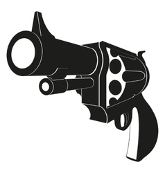 Revolvers isolated on white background vector