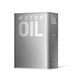Realistic metal containers for motor oil vector