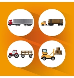 Truck icon design vector