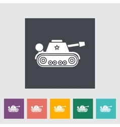 Tank toy flat icon vector