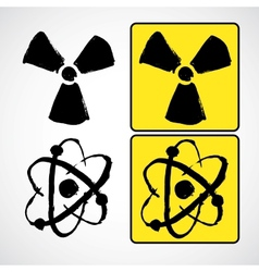 Grunge radioactive symbol vector