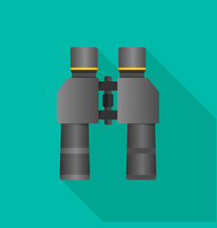 Binoculars flat icon with long shadow vector