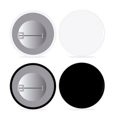 Black and white pin set vector