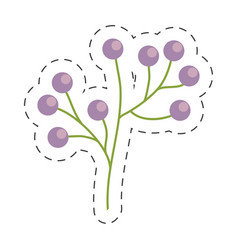 branch flower wild image cut line vector image
