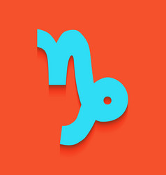 Capricorn sign whitish icon vector