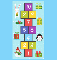 christmas board game vector image
