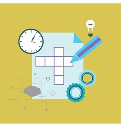 Crossword puzzle vector