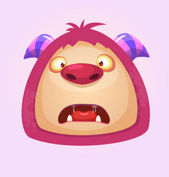 Cute cartoon troll head vector