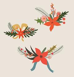 Festive bouquets vector