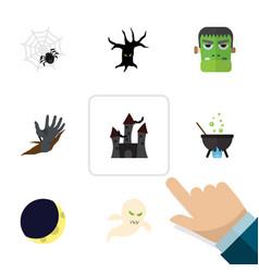 flat icon festival set of monster spinner vector image vector image