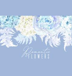 floral blue horizontal border vector image vector image