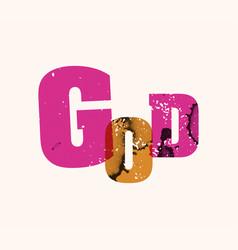 God concept stamped word art vector