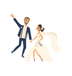 Groom and pride dancing isolated vector