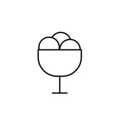 Ice cream in plate icon vector