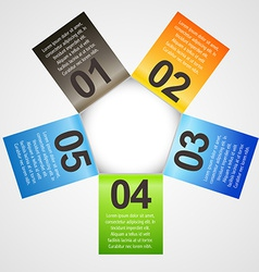 infographic template in different colors vector image