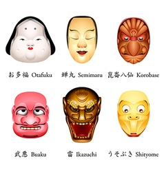 Japan masks iv vector