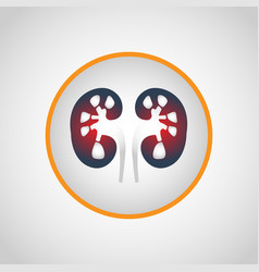 kidney failure logo icon design vector image vector image