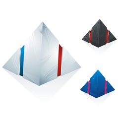logo pyramid set vector image