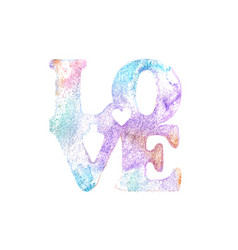 Love watercolor lettering vector