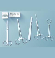 medical tools set vector image