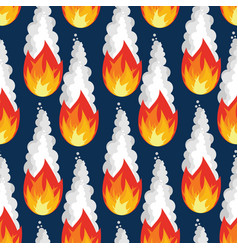 Meteor rain seamless pattern fire asteroid vector