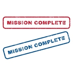 Mission complete rubber stamps vector