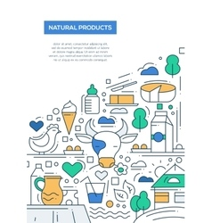 Natural Products - line design brochure poster vector image vector image